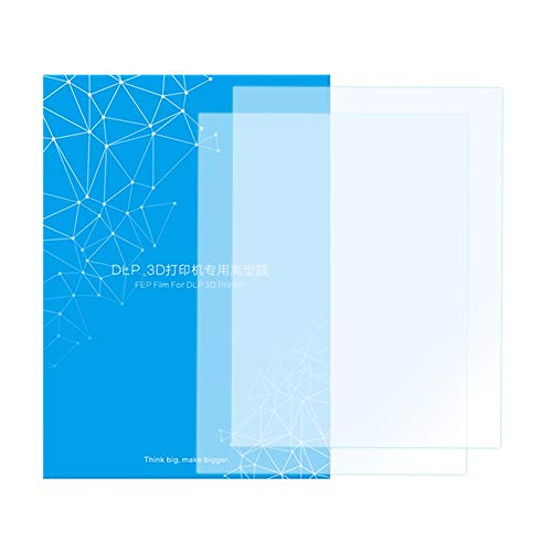 HAWKUNG 2 PCS FEP Release Film, 200 x 140 mm 0.15-0.2 mm Thick Transparent Separator Sheet for Photon Resin UV LCD 3D Printer or SLA DLP 3D Printer Accessory