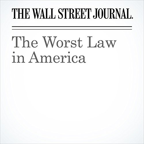 The Worst Law in America copertina