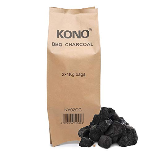 Kono BBQ Charcoal Briquettes 12KG - Perfect for Charcoal BBQs and Outdoor Cooking. Large Chunks for Longer Burning Barbecues