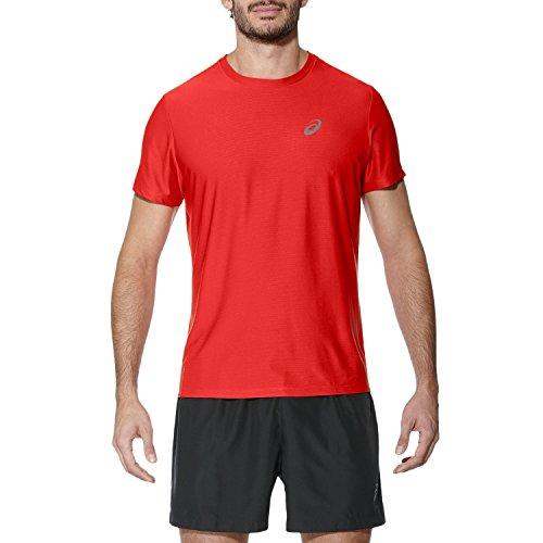 ASICS SS Top Camiseta de Manga Corta, Hombre, Rojo (Fiery Re