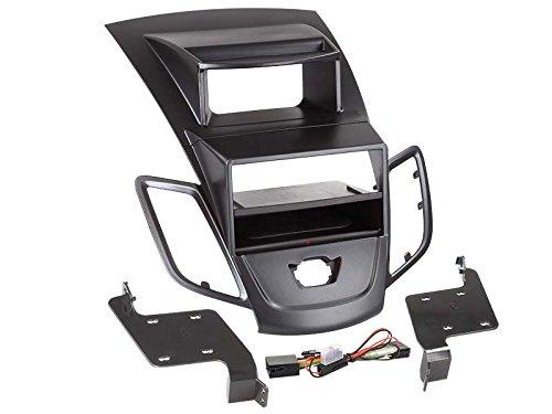 inbay – 1-dIN biseau de Radio avec Le Étagère Ford Fiesta M. Écran Noir