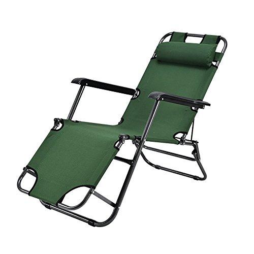 FEIFEI Fauteuils inclinables Chaise Longue Chaise Pliante Multifonctionnel Déjeuner Pause Bureau Siesta Lit Chaise Repos Lit Portable Lit Maison Pliant (Couleur : C)
