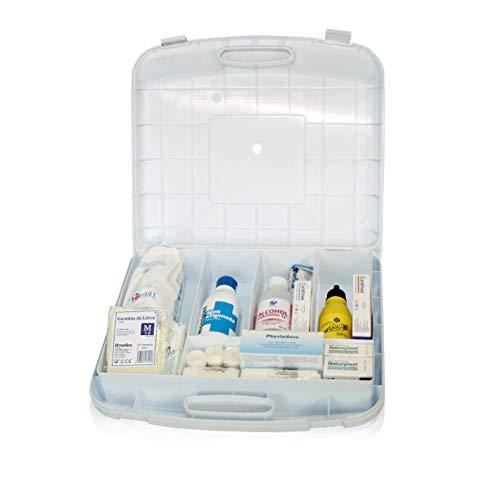 Botiquin maletin primeros auxilios con dotacion (medidas 270 x 310 x 80 mm.)