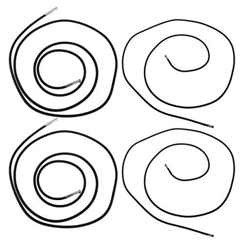 DOITOOL 4pcs Silla de Cubierta Cordones de Repuesto de Cuerda elástica Cordones elásticos Cordones de Silla Cordones de reparación elásticos para Acampar