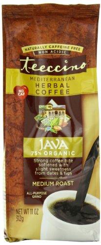 Teeccino Herbal Coffee, Mediterranean Java, Caffeine-Free, 11-Ounce Bags (Pack of 3)