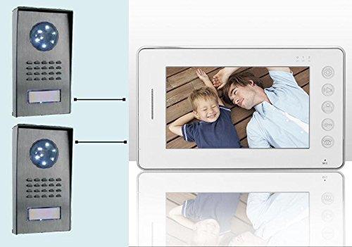 Videocitofono 7' colori FOTO 2 telecamere ultra sottile memoria notturna (450)