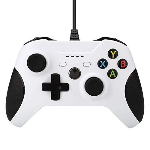 JINQII Consoles com fio para Xbox One Controller Gamepads para Xbox One Compatível com Xbox One/S/X/PC Windows 7/8/10 com áudio de Fone de Ouvido de 3,5mm