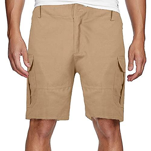 WENZHOU Herren Cargo Shorts RIVJakob Kurze Hose Regular Bermuda 100% Baumwolle Schwarz Camouflage Basic Vintage Herren Cargo Shorts Herren Bermuda Short Größe S - 6XL