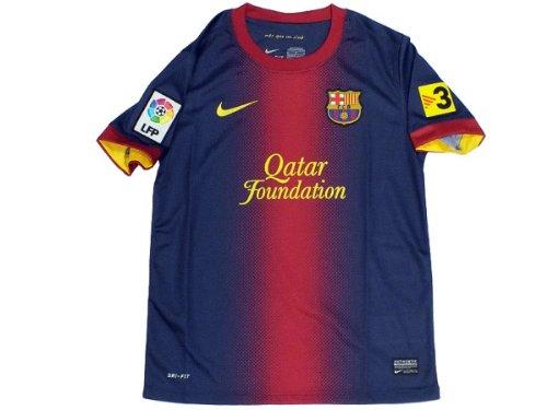 Nike Maglia Boys Casa Replica Manica Corta Blu Scuro 12/13 Barcellona 10/12 Anni
