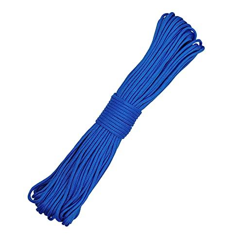 Paracord, 100 ft (30 m) Cordón de Nailon, Cuerda de 4 mm con 9 Hilos de Núcleo, para Exterior, Multiusos, Cámping Tienda, Pulseras, Correa para Perros, Trenza DIY (Azul)