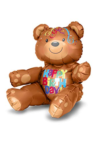 Folienballon 10039549 Multi Bär Happy Birthday