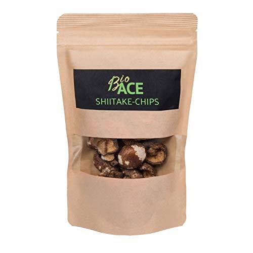 Pilz Chips - Shiitake - viele Ballaststoffe - Eisen, Phosphor, Zink, Kalzium, Kalium - mehr Eiweiß, weniger Fett (35 GR)
