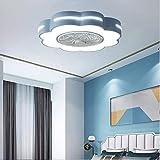 WRMING Ventiladores de Techo Silencioso con Lámpara, Moderno LED Luz Mando a...