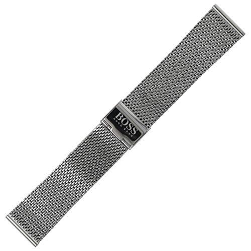 Hugo Boss Uhrenarmband 22mm Edelstahl Grau - 659002655