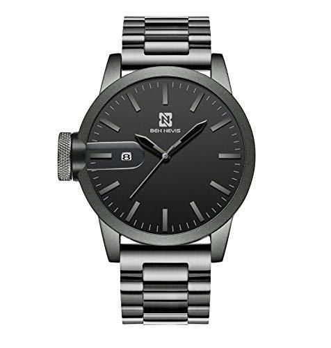 腕時計 メンズ シンプル アナログ腕時計 おしゃれ ビジネス 防水 日付表示 ステンレス鋼 グレー