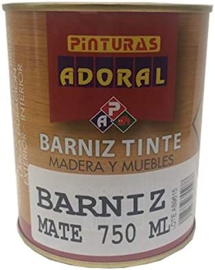 Adoral - Barniz Sintético Incoloro 750 ml para madera (Mate)