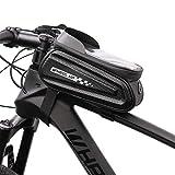 LIDIWEE Borsa Telaio Bicicletta, Wheel Up 7 Pollici Porta Cellulare Bici Custodia Cellulare Borse per MTB Bicicletta Telaio Frontale Borsa Manubrio con Touchscreen Impermeabile Grande capacità