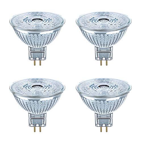 OSRAM LED SUPERSTAR GLAS MR16 GU5.3 5W=35W 350lm warm weiß 2700K 36° dimmbar 4er