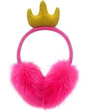 Regalos para niñas Orejeras de unicornio con diseño de felpa colorida