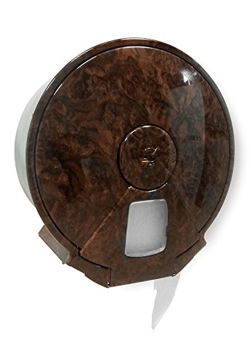 Italy 4033/DL-RN Dispenser Mini toiletpapier, jumbo, walnoot