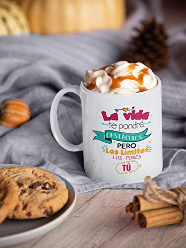Desconocido Taza Frases motivadoras. Taza de Ceramica de café. La Vida te...