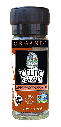 Gourmet Celtic Sea Salt Organic Applewood Smoked Seasoning Salt – Versatile Smoked Seasoning with a Bold, Distinctive Flavor, Hand Crafted and Nutritious, 3 Ounces