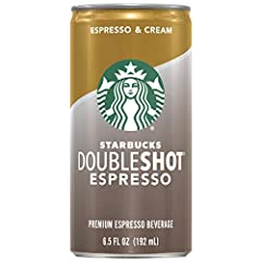 Rich, bold Starbucks espresso with just the right amount of cream Brewed espresso coffee Convenient 6.5 Fl Oz can to enjoy at home, at work, or on the go. 12-count case Caffeinated beverage Only 140 calories per serving