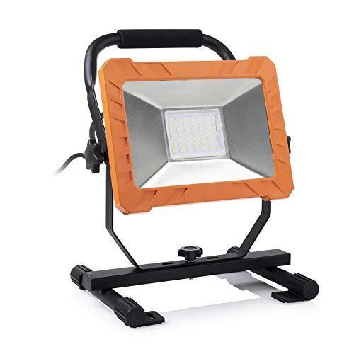 Smartwares Foco FCL-76004 de 50 W de potencia, clase de protección IP65, carcasa de aluminio, color naranja