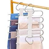 2 Piezas de Perchas para Pantalones Perchero de Acero Inoxidable Pesado para Pantalones Bufandas Vaqueros (Modelo - 1)