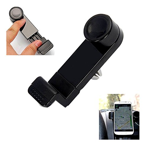 Fologar Soporte Universal para Rejilla de Ventilacion de Coche para Movil Smartphone PDA MP4 GPS