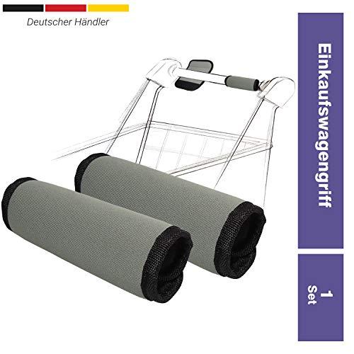 Uakeii 2X Premium Hygeneschutz Einkaufswagengriff mit Klettverschluss Wiederverwendbar Hygienegriff für Einkaufswagen 16 x 13 cm als Virenschutz Einkaufshelfer Neoprenhülle