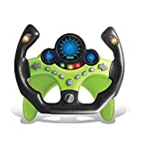 Kids Electric Early Education Simulation Steering Wheel Toy Multifunctional High Simulation Car Driving Toy with Music and Light Pretend Driving Toy for Boys and Girls (Sports car 2)