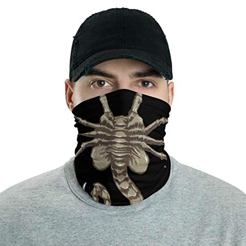 Alien Face Hugger Cover Neck Gaiter Novelty Animal Facehugger Fishing Head Scarf Cartoon 3D Print Magic Scarf Windproof Sun Mask Breathable Seamless Balaclava for Kids Adults
