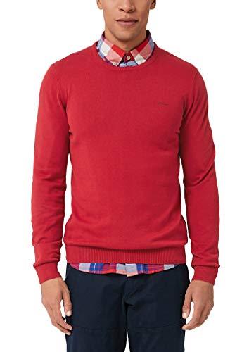 s.Oliver Herren 03.899.61.5232 Pullover, Rot (Marker Red Melange 31w0), Medium (Herstellergröße: M)