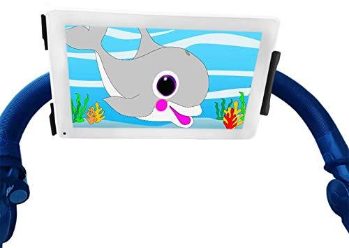 Sovica Soporte Tablet Carrito Bebe Cochecito Silla de Paseo Bebe Universal valido para Todo Tipo de Tablets pc y manillares de Carrito Bebe Giro 360º Soporte de Carrito Bebe para Tablet