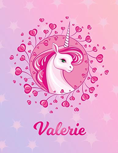 Valerie: Unicorn Sheet Music Note Manuscript Notebook Paper – Magical Horse Personalized Letter V Initial Custom First Name Cover – Musician Composer … Notepad Notation Guide – Compose Write Songs