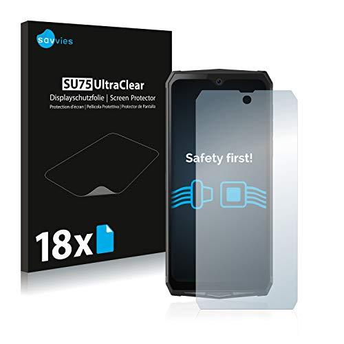 Savvies 18x Schutzfolie kompatibel mit Blackview BV9100 Bildschirmschutz-Folie Ultra-transparent