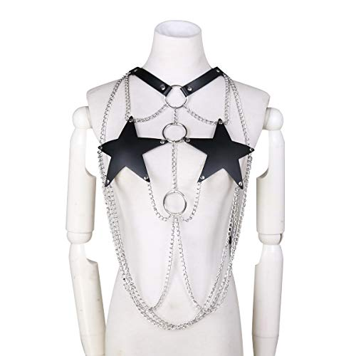 Erotisch Bondage Costume Corset Lingerie Sexy SM Kleding Pentagram ijzeren ketting Comfortabele Portable Voor Vrouw