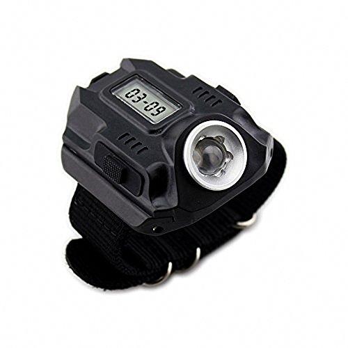 BBT LED Linterna Super Brillante táctica Brillante Recargable Impermeable Reloj antorcha de luz
