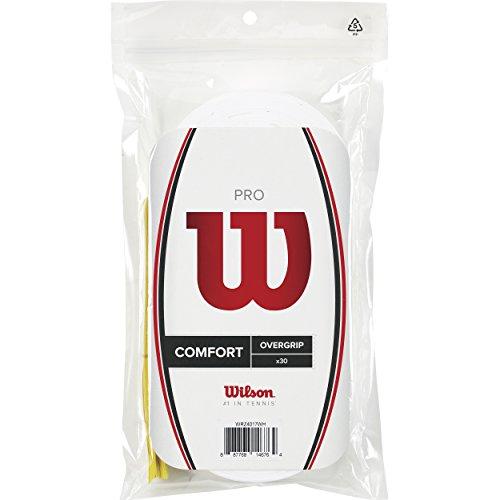 Wilson Pro Overgrip Empuñadura, 30 unidades, unisex, blanco