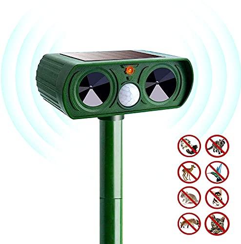 izdeel Repellente per Gatti Ultrasuoni, Dissuasori per Gatti per Piccioni, Uccelli, Cani, Gatti, Topi, ect, Impermeabile IPX4 & Solare