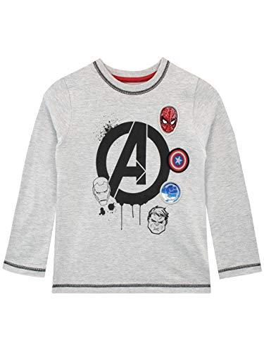 Marvel Camiseta de Manga Larga para niños Avengers Gris 4-5 Años