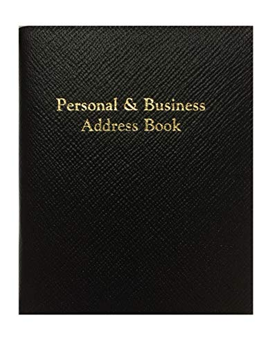 Leathersmith of London PBA55R Berkeley Libreta de Direcciones Personal y Negocios, Negro
