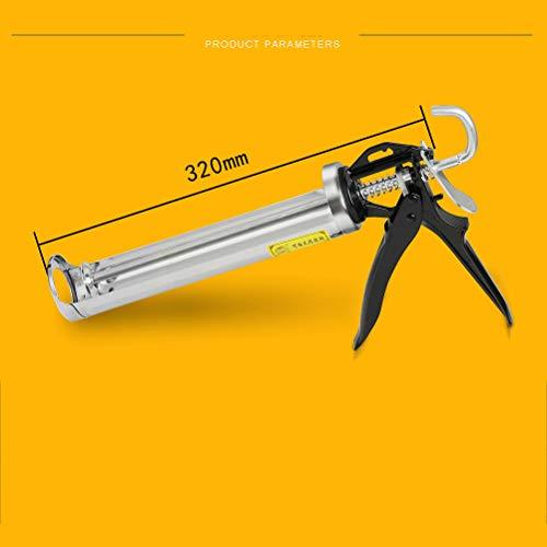 Pistola para calafatear, 32cm de tubo sellado de pistola de cartuchos de...