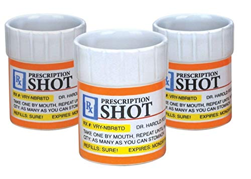 Prescription Pill Bottle Shaped Shot Glasses