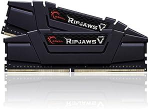 G.Skill (2x8GB) Ripjaws V Gaming Serisi 3200 MHz CL16 (16-18-18-38) Siyah Renkli Alüminyum Soğutuculu 1,35V Dual Bellek Kiti