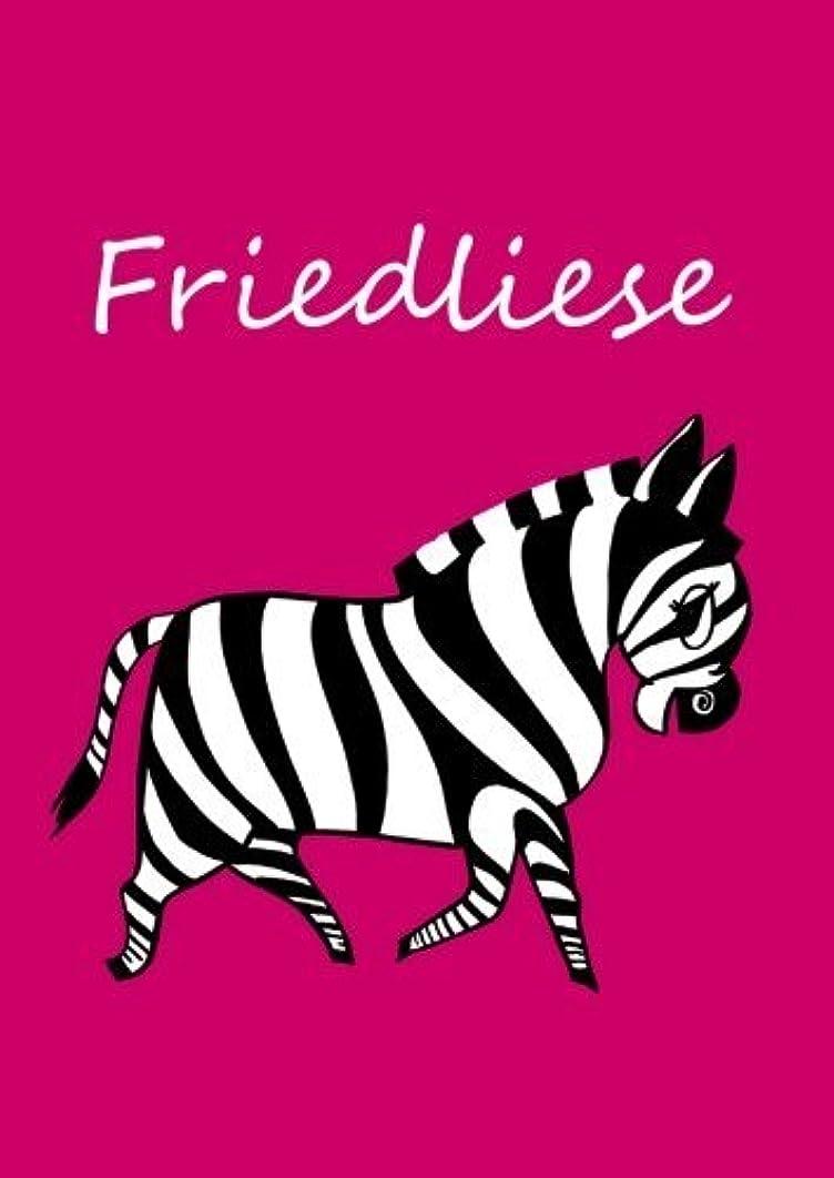 どのくらいの頻度で説教する難民Friedliese: individualisiertes Malbuch / Notizbuch / Tagebuch - Zebra - A4 - blanko