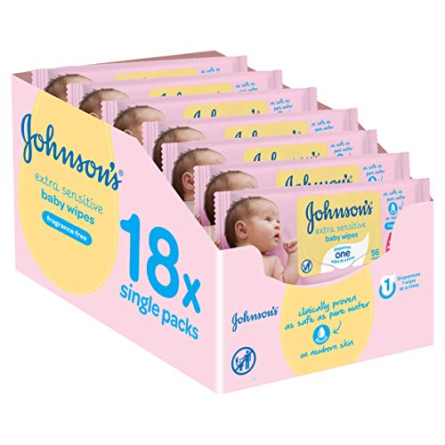 Johnson's Baby - Pack toallitas Extra Sensibilidad - 18x56 unidades