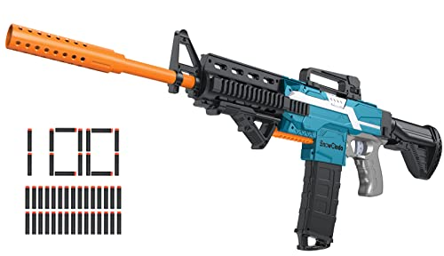 Toy Gun for Nerf Guns Automatic Machine Gun, DIY Customized Toy Foam Blasters & Guns with 3 Shooting Modes, Cool Toy Guns for Boys, Outdoor Games Toys for 6-12 Year Old Boys Girls