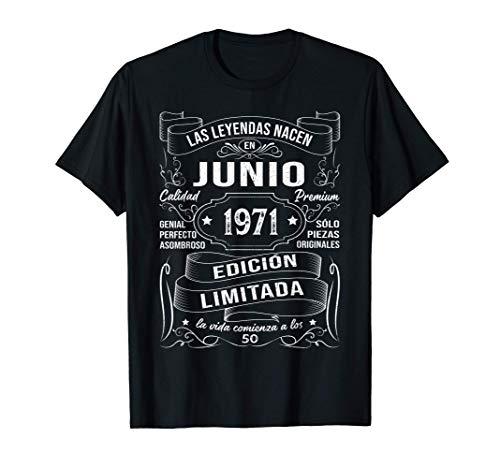 Leyendas Junio 1971 Regalo Hombre Mujer 50 Años Cumpleaños Camiseta